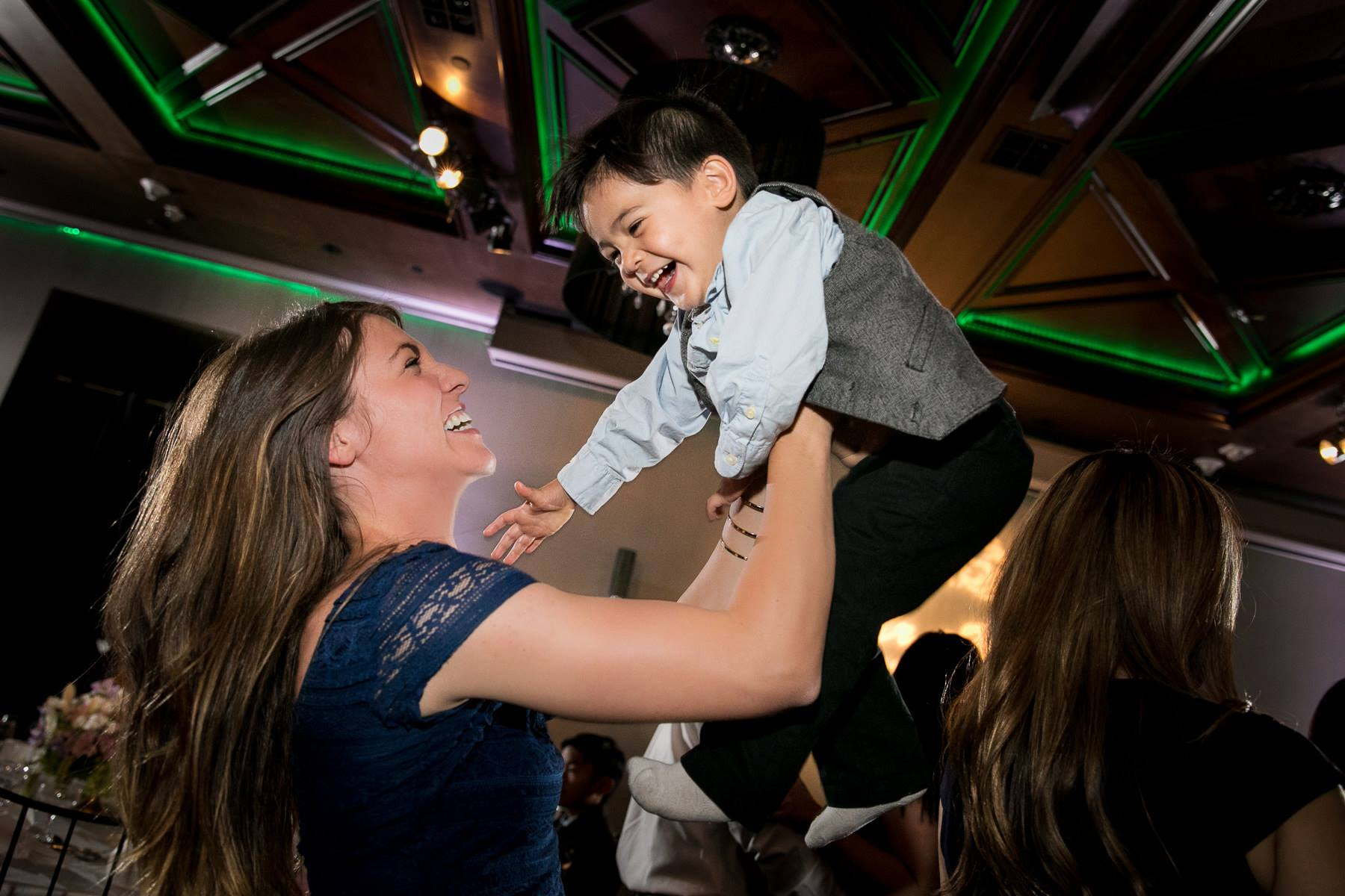 first 5 california commercial stars luca  and vanessa getting airtime on dance floor at noor pasadena wedding photo