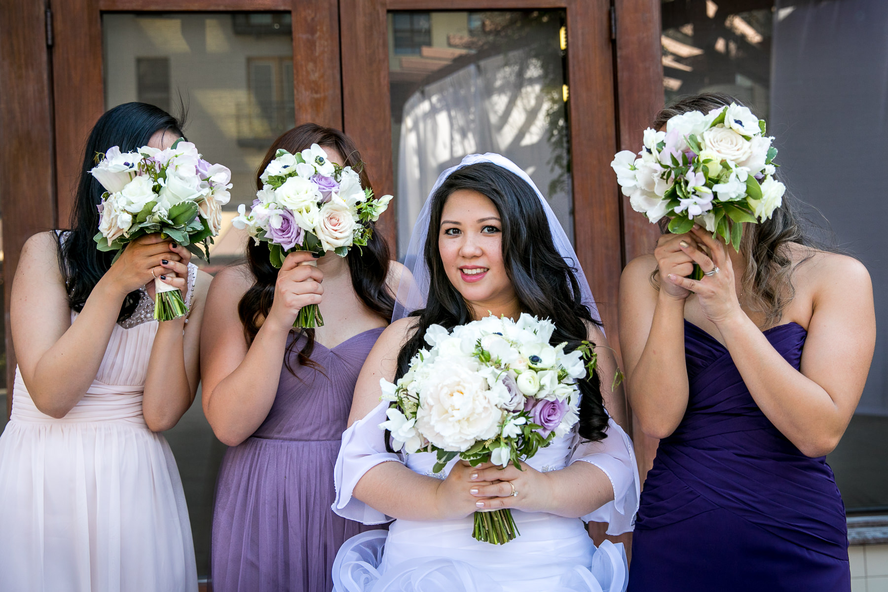 wen floral bouquets used for bridal portraits for wedding at noor pasadena photographer