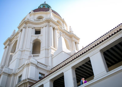 005 - pasadena city hall engagement session