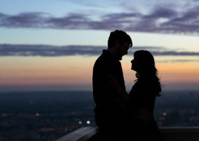 009 - sunset griffith observatory engagement session