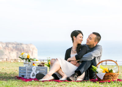 011 - picnic themed rancho palos verdes engagement photos