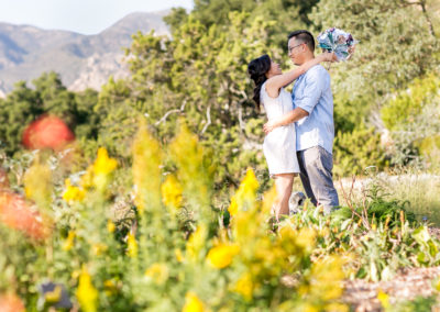 018 - santa barbara gardens engagement session photos