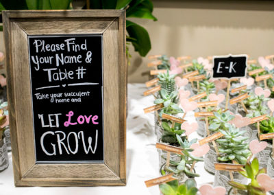 037 - let love grow succulent guest name cards