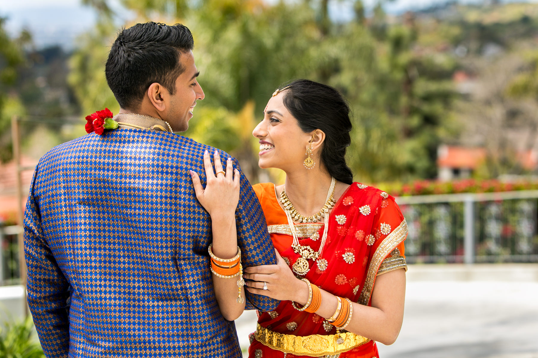 beautiful pose of south asian wedding couple