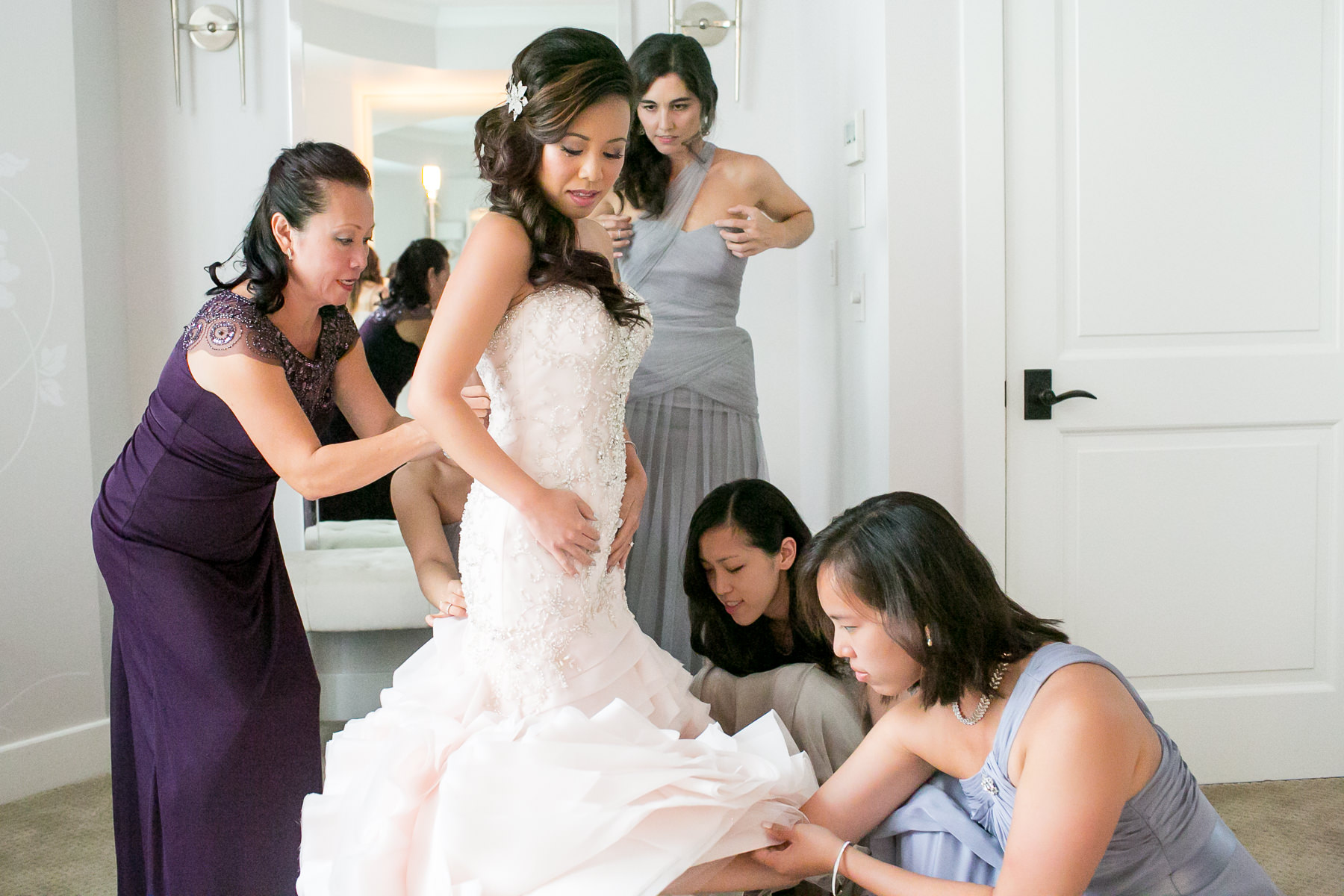 503852e5d8 family mother bridesmaids sisters help with dress destination wedding at sugar  beach events maui hawaii