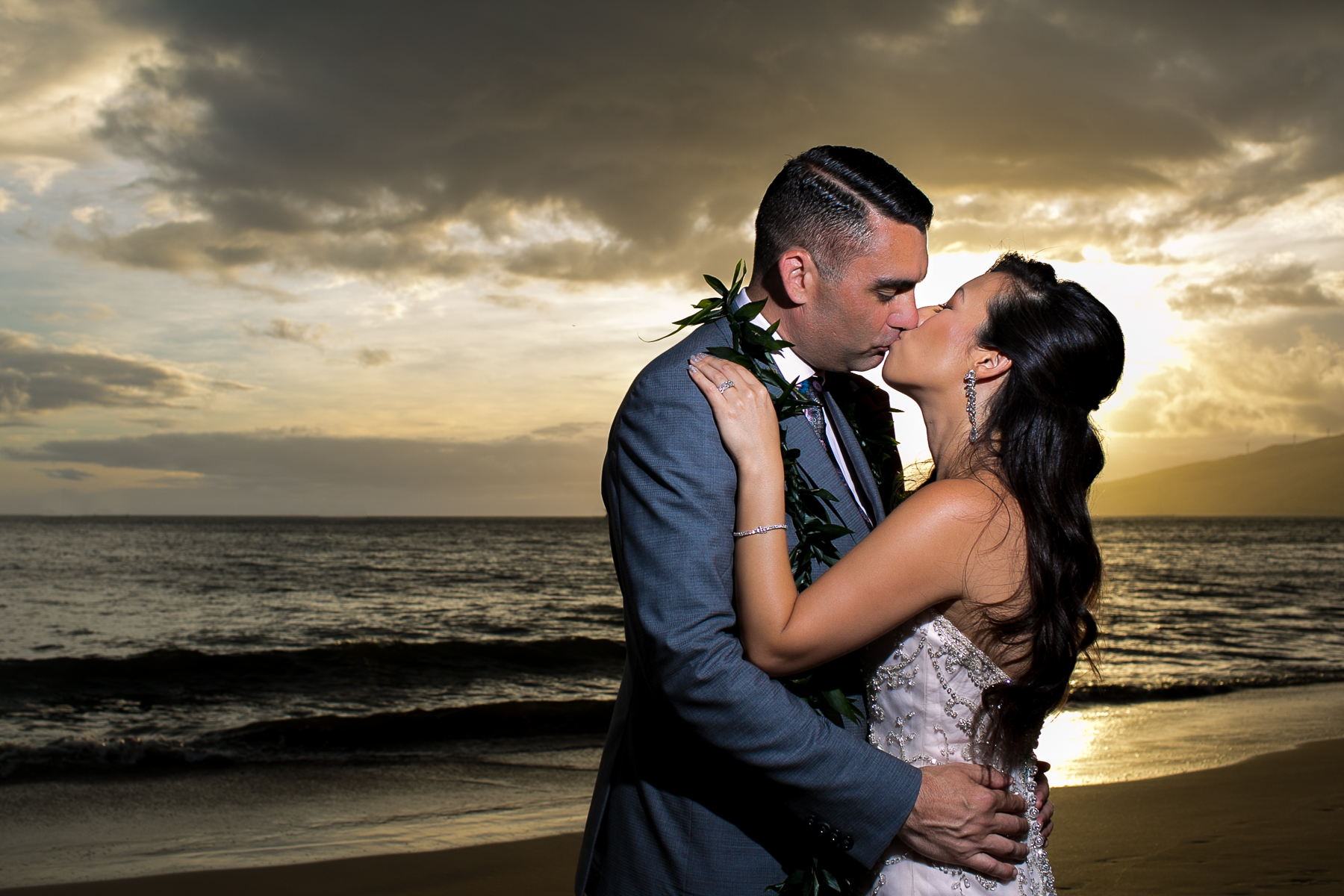 001 - bride groom sunset portraits maui sugar beach events wedding photos