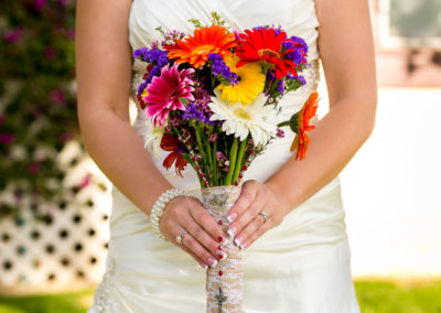 005 - bridal bouquet with rosary