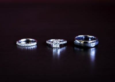 023 - wedding rings in a line