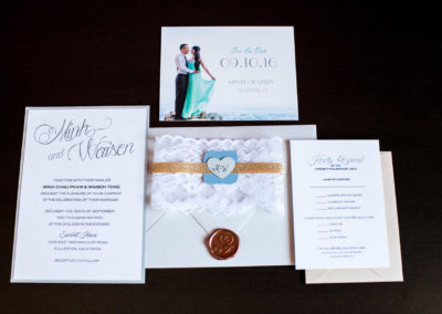 026 - wedding invitations with wax stamp