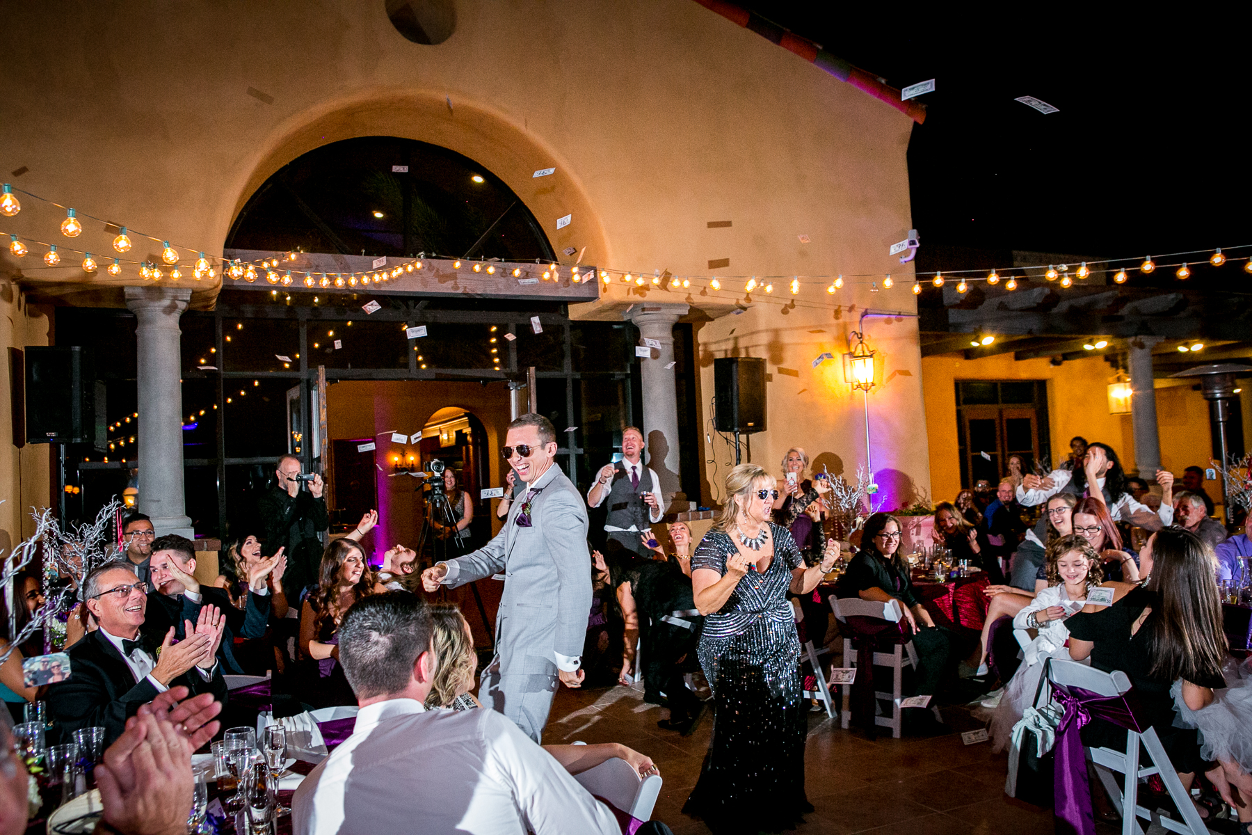 groom makes it rain during mother son dance at wedgewood wedding photos