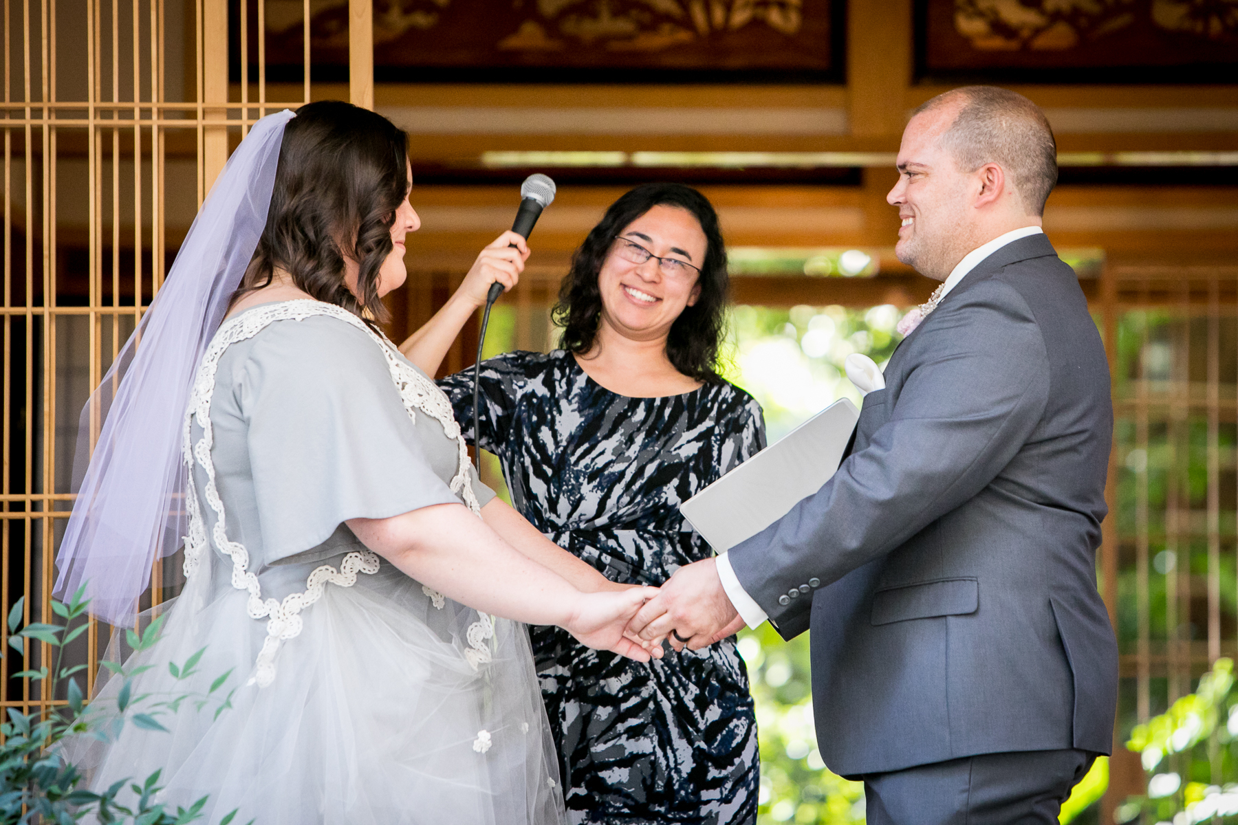 officiant announces husband and wife wedding at pasadena photography