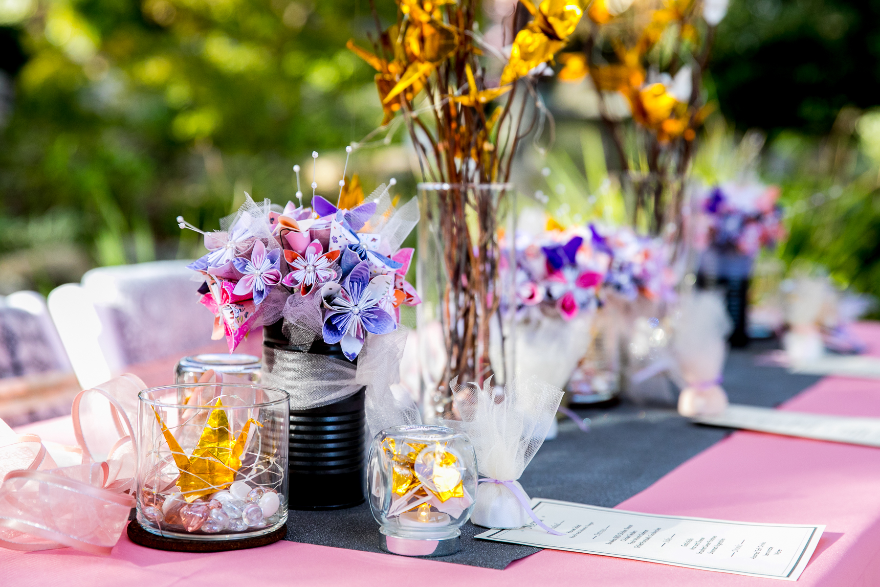 Creative Diy Bouquets And Origami Cranes At Japanese Garden In Pasadena  Photographer