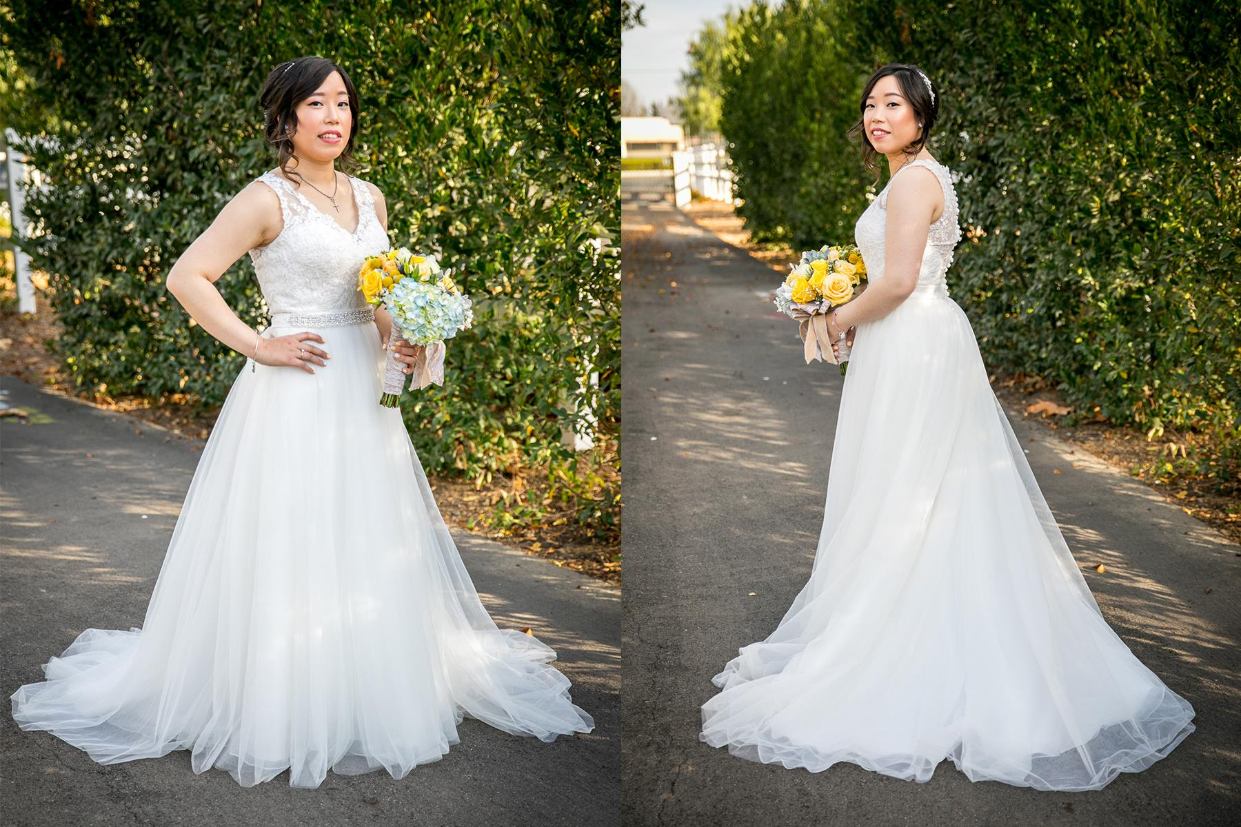 portrait of bride on wedding day at chino hills mccoy equestrian center photographer