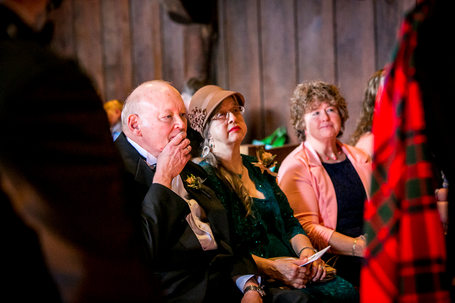 father of bride gets emotional during wedding ceremony at bay area wedding photographer